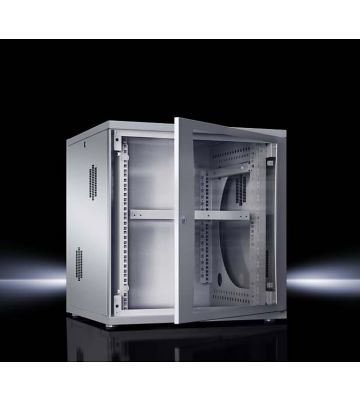 Rittal 12U 19 inch Flatbox Wandkast, afmetingen (BxHxD) 600x625x400mm