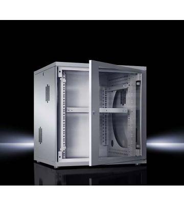 Rittal 12U 19 inch Flatbox Wandkast, afmetingen (BxHxD) 600x625x600mm